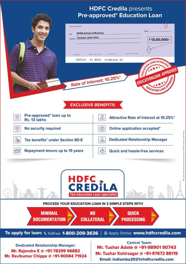 HDFC Educational Loan Details